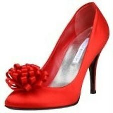 New Hollywould Womens Red Pump Pamela Shoes Size 5.5 $395 Retail