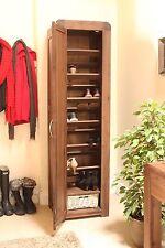 Shiro shoe cupboard cabinet tall hallway storage unit solid walnut furniture