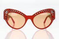 Versace Women's Red '4269-A' Spiked Cat-eye Sunglasses 141175