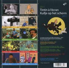 Timbre Tintin Planche de 10 timbres, Tintin B Post