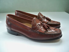 NEW Giorgio Brutini Mens Loafers Tassel Kiltie Woven Brown Leather Shoes SZ 11 D