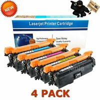 4-pk Toner Set for HP Laserjet 500 Color M551 M570 M551n M551dn M575 CE400X 507X