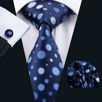 SN-918 Men's 100% Jacquard Woven Silk Neckties Tie+Hanky+Cufflinks Sets Free P&P