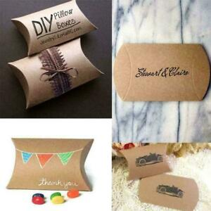 1xWedding Favor Box Cute Craft Paper Pillow Party Favour Cake Gift Bag hot M9T1