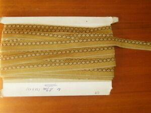 (ab 0,95€/m)  10 m   Posamentenborte mit kleinem Muster (grün) , Trachtenborte
