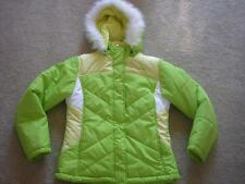 FREE COUNTRY Fleece-lined Fur-Trim Parka Jacket Girl's Sz LARGE / 14