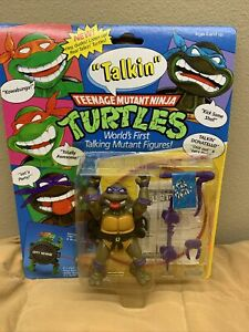 VINTAGE TMNT_Talkin Donatello_World's first talking mutant figures _NIB_1991