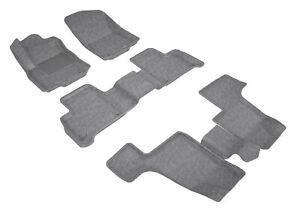 13-18 Mercedes GL GLS Classic Gray All Weather Carpet Floor Mat, 3 rows