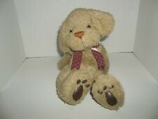 "first & main nate tan puppy dog plush sitting 9"" tall"