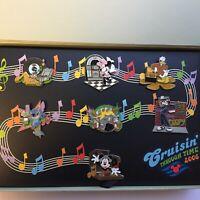DCL Cruisin' Through Time Music Through Time - 7 Pin Boxed Set Disney Pin 50091