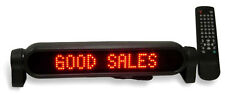 "100ER 14"" X 2"" RED PROGRAMMABLE MESSAGE BOARD WITH AUTO LIGHTER ADAPTER"