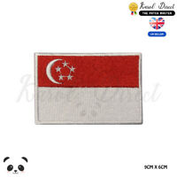 SINGAPORE National Flag Embroidered Iron On Sew On Patch Badge For Clothes etc