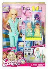 2016 BABY DOCTOR Barbie Playset with twin babies - BRAND NEW & NRFB!!