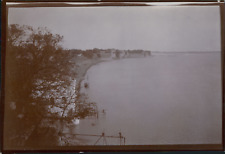 Inde, Vue d'un fort sur l'eau, ca.1903, vintage citrate print Vintage