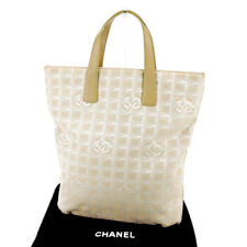 978ba94e6d Chanel Tote bag New travel line Beige Silver Woman unisex Authentic Used  T4073