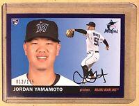 2020 Topps Archives Baseball Purple Parallel #91 Jordan YAMAMOTO RC 012/175