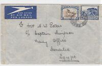 south africa to egypt air stamps cover ref r13220