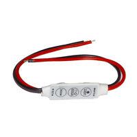 Mini 3 Keys Dimmer Controller DC 12V For Single Color 5050 3528 Led Light Strip
