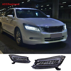 For Honda Accord 4-Door All Led Headlights assembly 2008-2012 New Design Upgrade