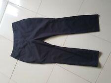 Tokito16 Black Cropped Pant Zip Front 61% Cotton 33% Polyester 6 % Elastane GUC