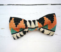 Sabre Tooth Dog Bow Tie - Aztec print