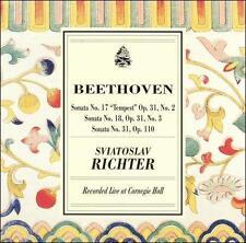 """Classical CD """"Beethoven Sonata No. 17 """"Tempest""""; No. 18; No. 31"""" Richter"""