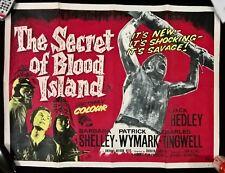 The Secret of Blood Island Poster  1965 - UK QUAD ORIGINAL  POSTER. 30 X 40
