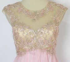 $190 Sleeveless Long Size 11 Formal Masquerade New Dress Long Peach Gown Evening