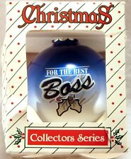 TOPPERSCOT CHRISTMAS ORNAMENT For the Best Boss GLASS BALL 1996