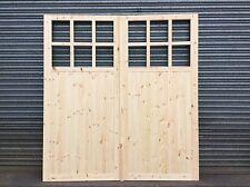 EXTRA STRONG FRAMED LEDGED+BRACED WOODEN GARAGE DOORS