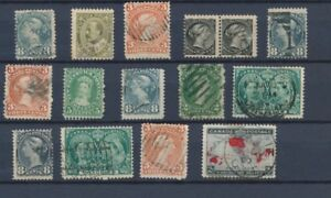 CANADA : Lot of 15 very old Stamps . Good used stamps High CV$400 A2071