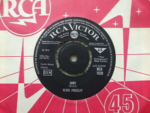 Elvis Presley - Judy / There's Always Me - RCA 1628 - EX- / VG+ RARE UK 45