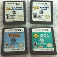 4 Nintendo DS Petz Bunnyz Bunch Dolphinz Encounter Ocean Patrol Wild Petz Dolphi