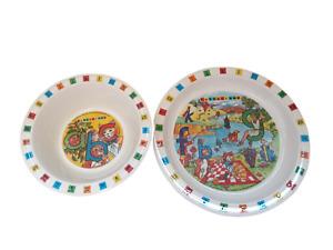 90's vintage Children's Letterland Collectors bowl and plate set