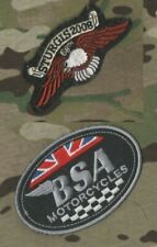 CAFE RACER ROCKERS FOREVER MOTORCYCLE 2008 STURGIS RALLY DILLIGAF + BSA PATCH