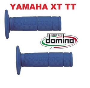 COPPIA 2 MANOPOLE DOMINO BLU YAMAHA XT TTR 600 TT RE 600 LUNGHEZZA 117 MM