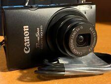 Canon PowerShot ELPH 110 HS 16.1MP Digital Camera - Black (plus case & card)