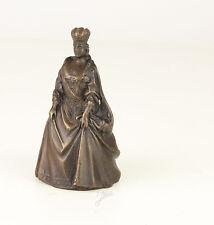 Bronze figürliche Glocke Königin in Kleid schick neu 99937638-dss