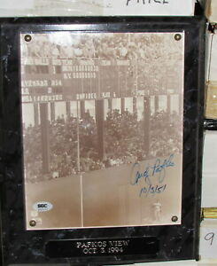 Andy Pafko View Shot Around World Autograph Photo Plaque SGC Authentic