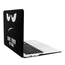 "Kwmobile funda rígida para Apple MacBook Air 13"" (a partir de mediados de 2011) Don 't Touch My Mac"