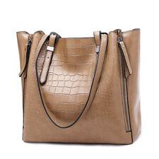 Women Designer PU Leather Shoulder Handbag Tote Bag Patchwork Snake Skin Bags