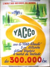 AUTHENTIQUE AFFICHE PUB ANCIENNE HUILE YACCO SIGNEE COLLET 56