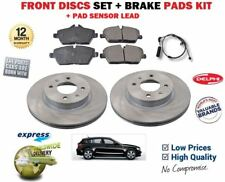 FOR BMW 1 SERIES 118i 118D 2007-> FRONT DELPHI BRAKE DISCS SET AND DISC PADS KIT
