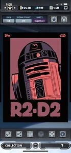 Topps Star Wars Digital Card Trader Red R2-D2 Icons Insert
