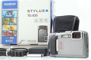 【EXC+5 in Box】OLYMPUS STYLUS TG-835 Silver 16M Pixels Waterproof 33ft From JAPAN