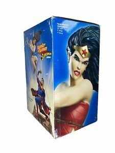 (BROKEN) DC Direct Wonder Woman Versus VS Superman Statue 2007 FULLSIZE