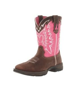 "Durango Women's Lady Rebel 10"" Pull-On RD3557-U, Boots Brown And Pink, Size 8"