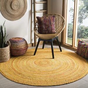 Rug 100% Natural Cotton Handmade Reversible Classic Boho Floor Mat Area Rugs
