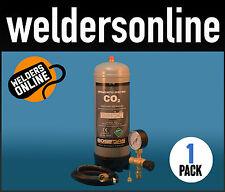 Carbon Dioxide C02 Complete  KIT- Bottle, Regulator, hose & clips FREE POSTAGE