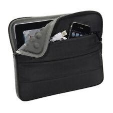 Tablet Tasche für 10,1 Zoll (25,7cm) mit Zubehörfach, Schutz Hülle Case, schwarz